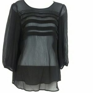 Loft Sheer Pleated Blouse